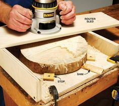 Flattening End Grain with a Router - The Woodworker's Shop - American Woodworker  http://www.popularwoodworking.com/projects/flattening-end-grain-with-a-router