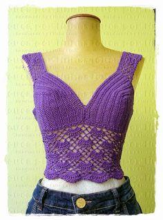 louca por linhas - crochet e patchwork: Top Princess