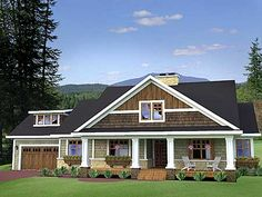 Great floor plan with garage on the side. Love it. Plan W14570RK: Craftsman, Northwest House Plans & Home Designs