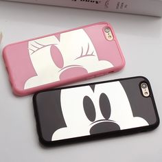 Newest Pink Panther Mirror Mickey Minnie Soft TPU Case For iphone 6 6s 6Plus 5 5s SE Cover For iphone Cases Coque Fundas