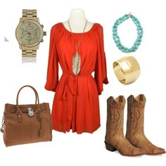 Cute - I can totally rock this with my orange dress I got from Target and my cowboy boots!
