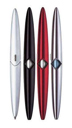usus.io ballpoint pen aluminium, US$52. Magnetic twist action body for Parker G2 refills. Also available in clear and solid plastic.