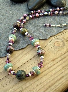 Boho Necklace Sundance Style Gemstone Artisan by BohoStyleMe
