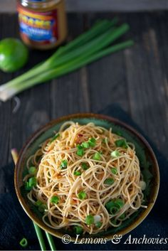 #Healthy #Recipe / Noodles with Peanut-Lime Vinaigrette