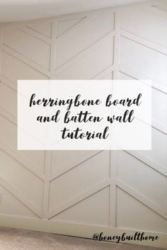Honey Built Home - Tutorial Herringbone Board and Batten Wall DIY - Diy Decoration Diy Wand, Home Improvement Projects, Home Projects, Home Renovation, Home Remodeling, Bedroom Wall, Bedroom Decor, Master Bedroom, Bedroom Accent Walls