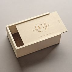 The Producer Keepsake Shoebox Holds Your Treasured Mementos as They Become Cherished Memories. Personalize This Wood Keepsake Box to Create a Meaningful Gift. Wooden Gift Boxes, Wooden Gifts, Wood Boxes, Handmade Wooden, Usb Packaging, Wood Packaging, Wood Box Design, Picture Storage, Scrapbook Box