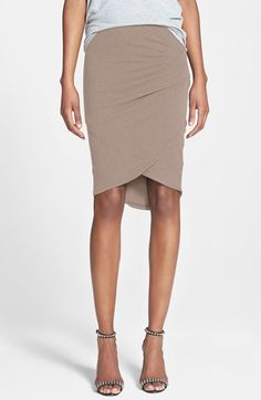 A great office alternative to the black pencil skirt  Tulip hem skirt by James Perse for $175 BusbeeStyle.com