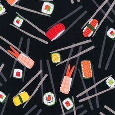 100% COTTON Chopstick Please! Robert Kaufman fabrics