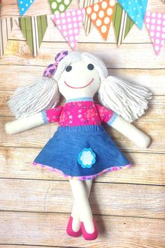Soft Doll Fabric Doll Cloth Doll First Doll by Rag Dolls, Fabric Dolls, Selling On Pinterest, Soft Dolls, Mild Soap, Girl Gifts, Baby Shower Gifts, Doll Clothes, Birthday Gifts