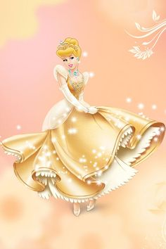 Cinderella in a Gold Dress Disney Pixar, Disney Cartoon Characters, Disney Nerd, Disney Cartoons, Disney Dream, Disney Love, Disney Magic, Disney Fairies, Tinkerbell