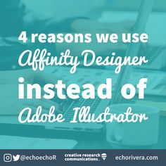 [NEW POST] 4 reasons we use Affinity Designer instead of Adobe Illustrator Graphic Design Lessons, Graphic Design Tutorials, Ed Design, Tool Design, Old Software, Designer Software, Illustration Software, Powerpoint Tips, Affinity Photo