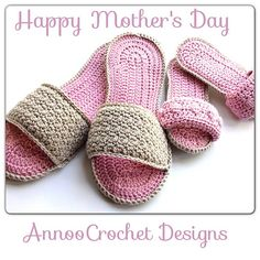 Ravelry: Mothers day Spa Slippers pattern by Annoo Crochet