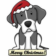 Cartoon Mantle Great Dane Christmas Ornament