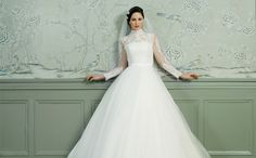 These wedding dresses from the 2015 LILLY bridal collection are super elegant with perfectly pretty detailing. The Danish bridal house also offers Lace Wedding Dress, Beautiful Wedding Gowns, 2015 Wedding Dresses, Beautiful Bride, Beautiful Dresses, Bridesmaid Dresses, Bridal 2015, Illusion Dress, Wedding Styles