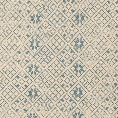 zazu in blue from kathryn ireland's summers in france collection #fabric #linen #blue