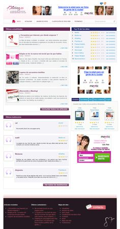 Home page - Meeting.es , the best spanish dating sites in one place !  We created the whole design and write the entire articles and descriptions of dating sites. © All rights reserved - Luckeen