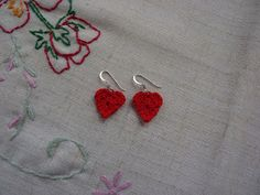 PDF version  These cute earrings are the easiest to make. They take less than half an hour to crochet and a tiny amount of yarn. They are a ...