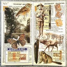 constance rose : art and life: Spring This Week Collage Book, Collage Art Mixed Media, Collage Artists, Book Art, Bullet Journal Art, Art Journal Pages, Junk Journal, Art Journals, Garden Journal