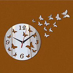 Redonda Moderno/Contemporâneo Relógio de parede , Família Outros 15.25*15.75