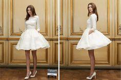 Hemos encontrado el vestido de novia perfecto para las novias que quieren ir de corto.