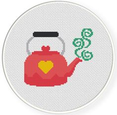 Charts Club Members Only: Cute Pink Kettle Cross Stitch Pattern Charts Club Members Only: Cute Pink Kettle Cross Stitch Pattern <!-- Begin Yuzo --><!-- without result -->Related Post Send a baby off to sweet slumber with this gorgeou. Easy Cross Stitch Patterns, Cross Stitch Fabric, Simple Cross Stitch, Cross Stitch Borders, Cross Stitch Charts, Cross Stitch Designs, Cross Stitching, Cross Stitch Embroidery, Learn Embroidery