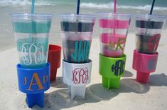 @Angela Gray Brooks  For our next beach trip!!!!!  Personalized Beach Cup Holder 29% off at Groopdealz