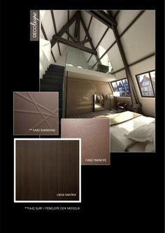 VRI interieur moodboard Decolegno structuren Shanghai Tranche en Matrix