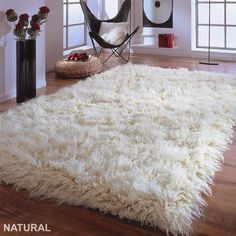 Extraordinary x Winter white flokati. No rug pad required. The best flokati made! Bedroom Carpet, Living Room Carpet, Diy Carpet, Rugs On Carpet, White Carpet, Cheap Carpet, Carpets, Brown Carpet, Stair Carpet