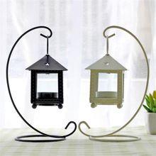1pcs European Style Lron Candlestick Morocco Retro Wedding Lantern Hurricane Lamps Romantic Decoration Home Room decor…
