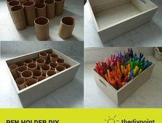 DIY Marker Organizer - Maybe for needles and hooks in my case # . - Organisation im Studio - Welcome Crafts Crafts For Kids, Arts And Crafts, Diy Crafts, Fall Crafts, Rangement Art, Paint Organization, Organization Ideas, Art Studio Organization, Ikea Office Organization