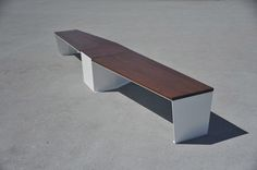 Public bench / contemporary / steel / exotic wood ELICA by Gibillero design CITYSI srl