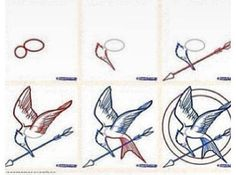 How to draw a Mockingjay this will solve all my artistic problems.