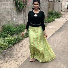 Girl Photo Poses, Girl Photos, Kerala Saree Blouse Designs, Photo And Video, Videos, Skirts, Cute, Instagram, Fashion