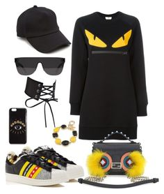 """Geen titel #134"" by eliantha-vonck on Polyvore featuring mode, Fendi, adidas, rag & bone, RetroSuperFuture, 1st & Gorgeous by Carolee en Kenzo"