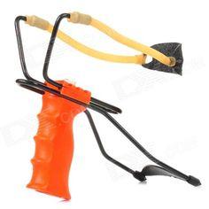 G-564 Outdoor Iron + Plastic Waist Force Slingshot - Orange + Black