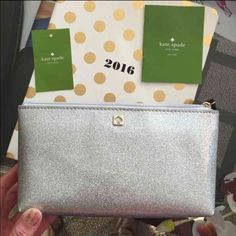 Kate spade cosmetic pouch Brand new! Gorgeous! Retails $45 kate spade Bags Crossbody Bags