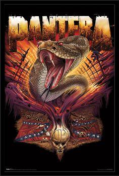 Pantera - Serpent - Walmart.com Black Metal, Heavy Metal Rock, Heavy Metal Music, Heavy Metal Bands, Power Metal, Death Metal, Rock N Roll, Pantera Band, Linkin Park Logo