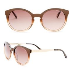 Ted Baker London Cat Eye Sunglasses 100% Authentic Ted Baker London Cat Eye Brown and Gold sunglasses! ✨ These are very comfortable.Flexes to the width of the head. Original price $150. Any questions please ask! Cheaper on 3bay Style: Cat eye fashion - Measurement: 50-19-140mm (eye-bridge-temple) - Frame color: Brown fade - Lens Color: Brown - Frame material: Plastic/metal - Lens type: Plastic - Protection: 100% UVA/UVB - Case and cleaning cloth included Ted Baker Accessories Sunglasses