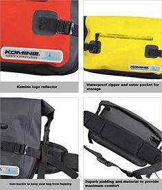 Amazon.com: Komine SA-222 WP HIP BAG RED FREE (5L) 09-222: Automotive