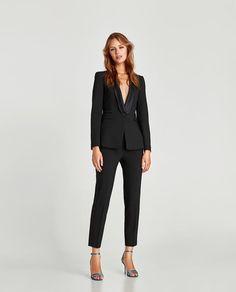 Zara Women Black Tuxedo Blazer on Mercari Black Tuxedo, Black Suits, Blazers For Women, Suits For Women, Female Tux, China Wholesale Clothing, Holiday Suits, Mode Shop, Tuxedo Jacket