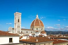 The Duomo in Florence seen from the roof of a department store