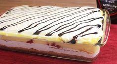 Recette : Gâteau froid, banana split.