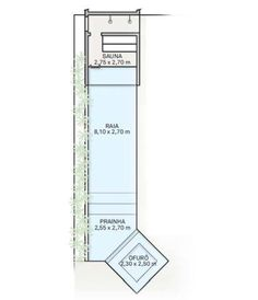 O tanque tem 1,45 m de profundidade e a prainha, 20 cm. No ofurô, com 45 cm, os degraus levam pastilhas de vidro com acabamento boleado nas quinas (Jatobá). Na borda, piso cimentícioatérmico (Pietra).
