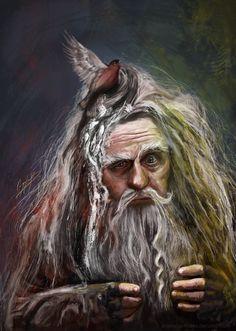 Radagast the Brown - The Hobbit by maude Hobbit Films, Hobbit Art, The Hobbit, Gandalf, Legolas, World Of Warcraft, Radagast The Brown, Jrr Tolkien, Fantasy