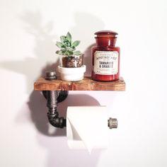 Steampunk Industrial Bathroom Paper Holder