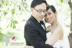 http://www.cwillsphotography.com, edmonton wedding photographer, edmonton wedding photography, bride and groom pose, spring wedding, outdoor wedding photos, apple blossom wedding photo