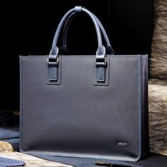 148.12$  Buy here - http://ali7l2.worldwells.pw/go.php?t=1764816858 - BVP Hot Luxury Brand Genuine Leather Briefcases 14'' Laptop Briefcase Business Zipper Gary Handbag Soft Cowhide Bag T1011 148.12$