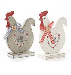 Wooden Home Sweet Home Hen Home Kitchen Decoration Shabby Chic Easter Gift Wooden Projects, Wooden Crafts, Diy And Crafts, Craft Projects, Chicken Crafts, Chicken Art, Easter Gift, Easter Crafts, Palette Deco