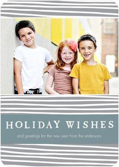 Flat Holiday Photo Cards Wishful Holidays - Front : Smoke