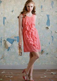 coral bridesmaid dress @jessicahubler